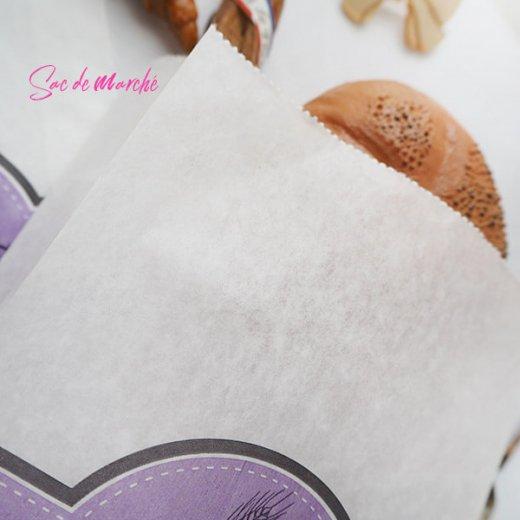 マルシェ袋 フランス 海外市場の紙袋(Delices・Purple)5枚セット【画像3】