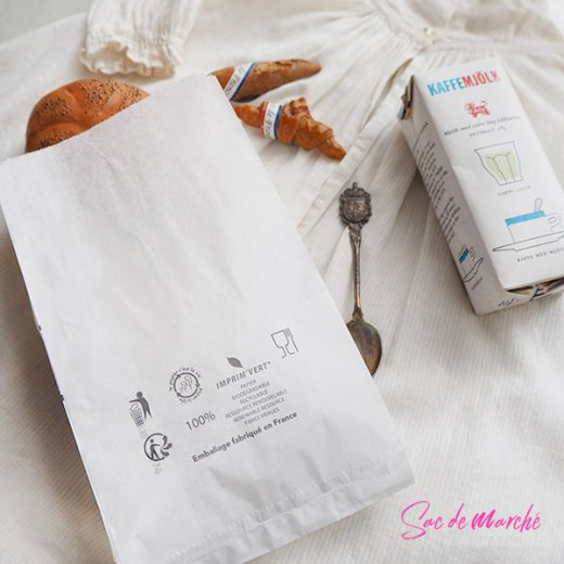 マルシェ袋 フランス 海外市場の紙袋(Delices・Purple)5枚セット【画像5】