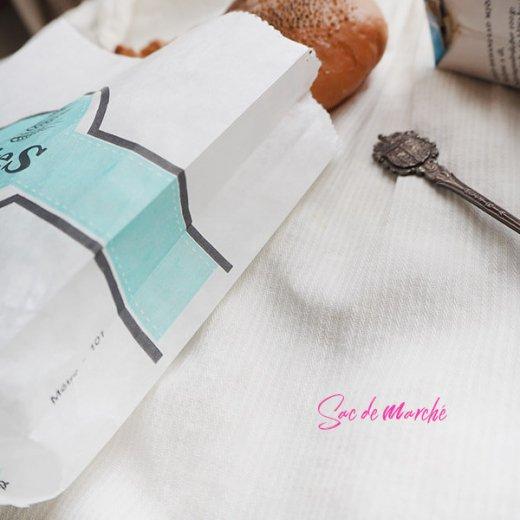 マルシェ袋 フランス 海外市場の紙袋(Delices・Light blue)5枚セット【画像5】