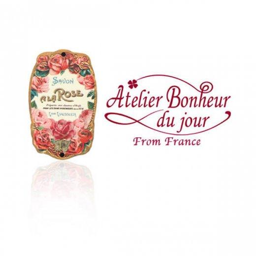 フランス輸入ボタン アトリエ・ボヌール・ドゥ・ジュール【バラ Savon a La ROSE】