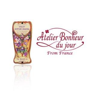輸入 木製ボタン 花 車 その他 フランス輸入ボタン アトリエ・ボヌール・ドゥ・ジュール【スミレ Bacon's Violet Witch Hazel】