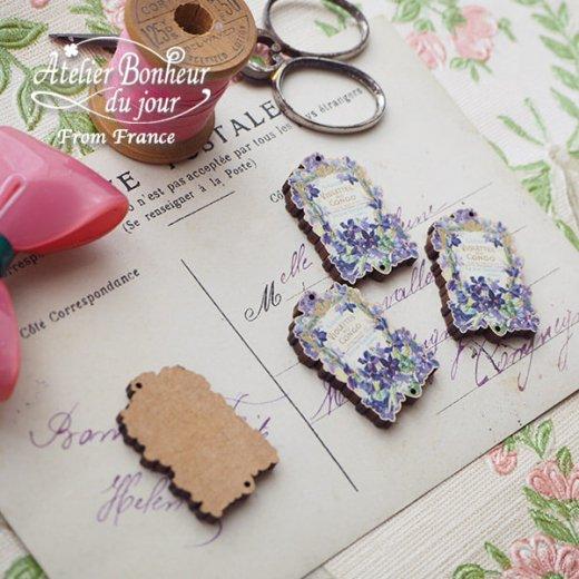 フランス輸入ボタン アトリエ・ボヌール・ドゥ・ジュール【スミレ savon Violettes du congo】【画像3】