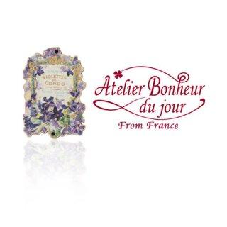 フランス輸入ボタン アトリエ・ボヌール・ドゥ・ジュール【スミレ savon Violettes du congo】