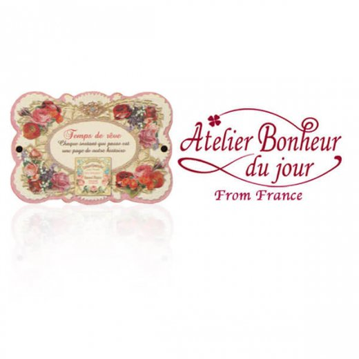フランス輸入ボタン アトリエ・ボヌール・ドゥ・ジュール【バラ Temps de reue】