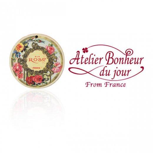 フランス輸入ボタン アトリエ・ボヌール・ドゥ・ジュール【バラ ALA ROSE PARIS】