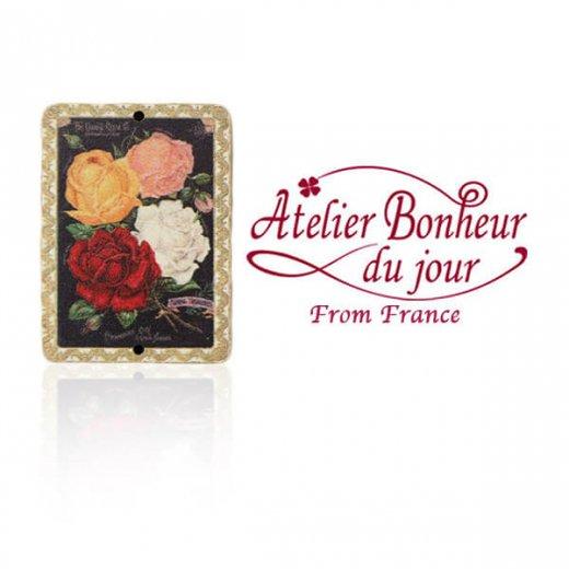 フランス輸入ボタン アトリエ・ボヌール・ドゥ・ジュール【SAVON 4種のバラ】