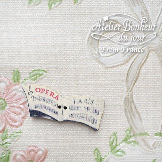 フランス輸入ボタン アトリエ・ボヌール・ドゥ・ジュール【OPERA PARIS 楽譜 】【画像5】