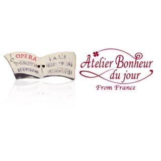 フランス輸入ボタン アトリエ・ボヌール・ドゥ・ジュール【OPERA PARIS 楽譜 】
