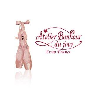 フランス輸入ボタン アトリエ・ボヌール・ドゥ・ジュール【バレリーナ トウシューズ A 】