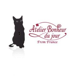 フランス輸入ボタン アトリエ・ボヌール・ドゥ・ジュール【黒猫 Le Chat noir B】