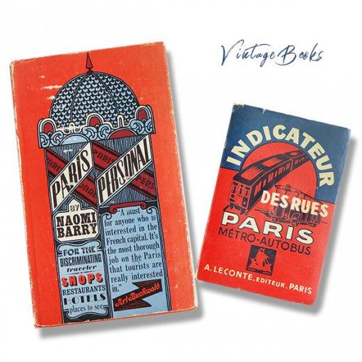 【2冊セット】フランス 1964年 パリガイドブック アメリカ1963年 パリ観光案内本