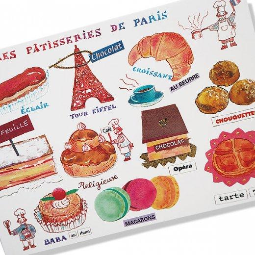 フランス ポストカード  エッフェル塔 マカロン (Les patisseries de paris)【画像2】