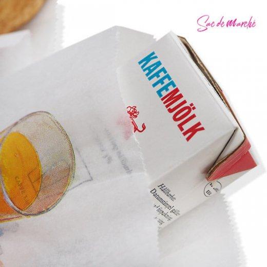 マルシェ袋 フランス 海外市場の紙袋(Petit dejeuner)5枚セット【画像4】
