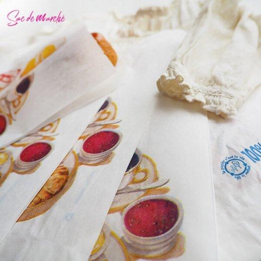 マルシェ袋 フランス 海外市場の紙袋(Petit dejeuner)5枚セット【画像6】