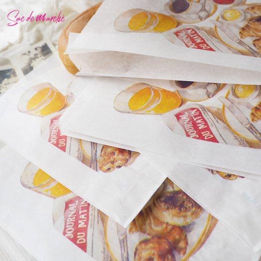 マルシェ袋 フランス 海外市場の紙袋(Petit dejeuner)5枚セット【画像8】