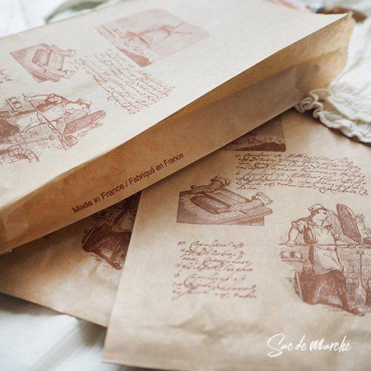 マルシェ袋 フランス 海外市場の紙袋(Roue a eau)5枚セット【画像7】