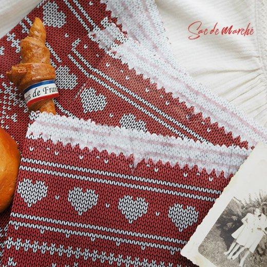 マルシェ袋 ドイツ 海外市場の紙袋(クリスマス・レッドM)5枚セット【画像5】