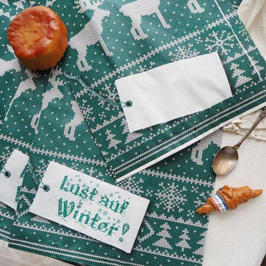 マルシェ袋 ドイツ 海外市場の紙袋(クリスマス・グリーンL)5枚セット【画像4】