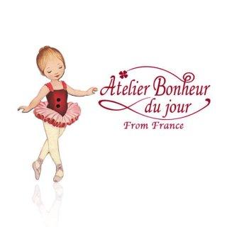 輸入ボタン アトリエ・ボヌール  フランス輸入ボタン アトリエ・ボヌール・ドゥ・ジュール【バレリーナ ルージュ】