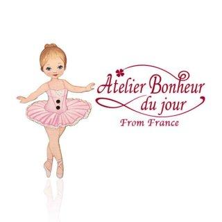 フランス輸入ボタン アトリエ・ボヌール・ドゥ・ジュール【バレリーナ ピンク】