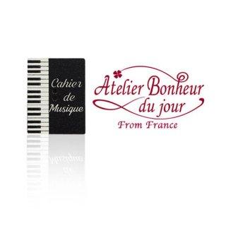 フランス輸入ボタン アトリエ・ボヌール・ドゥ・ジュール【ピアノ鍵盤 ノート】