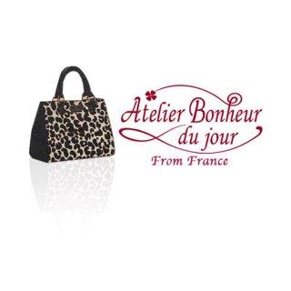 輸入 木製ボタン ファッション フランス輸入ボタン アトリエ・ボヌール・ドゥ・ジュール【Bag バッグレオパード】