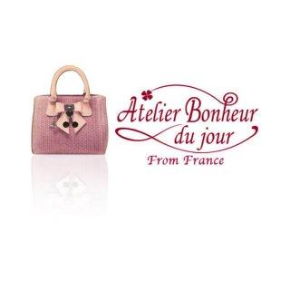 フランス輸入ボタン アトリエ・ボヌール・ドゥ・ジュール【Bag ピンク】