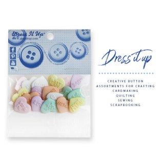 ハンドメイド USA Dress It Up ボタン クラフト素材(キャンディーキス)