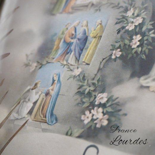 【送料無料】フランス ルルドの泉  アンティーク ガラスドーム 壁掛け フレーム【聖母マリア】【画像7】