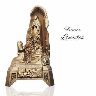 【送料無料】フランス ルルドの泉  アンティーク オルゴール【聖母マリア】
