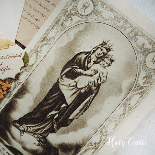 フランス蚤の市より アンティーク 教会 ホーリーカード 【6枚セット A-type】【画像5】