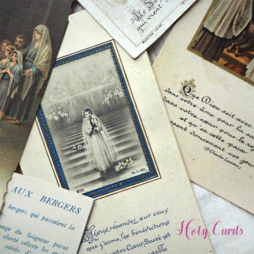 フランス蚤の市より アンティーク 教会 ホーリーカード 【6枚セット C-type】【画像2】