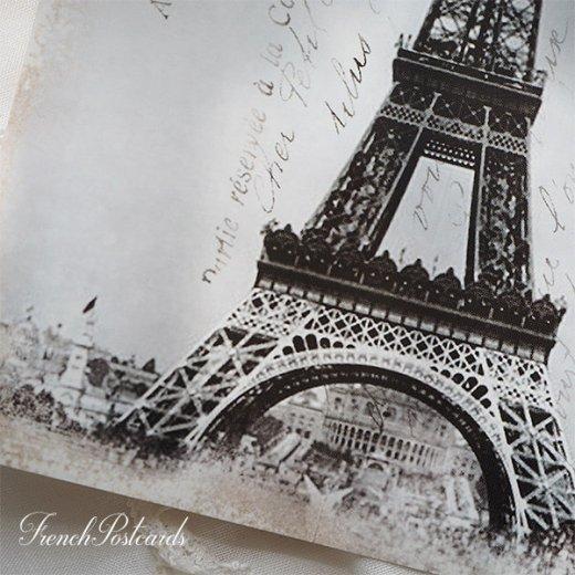 フランス エッフェル塔 モノクロ ポストカード PARIS 1889【画像2】