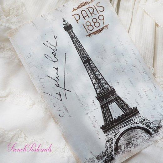 フランス エッフェル塔 モノクロ ポストカード PARIS 1889【画像3】