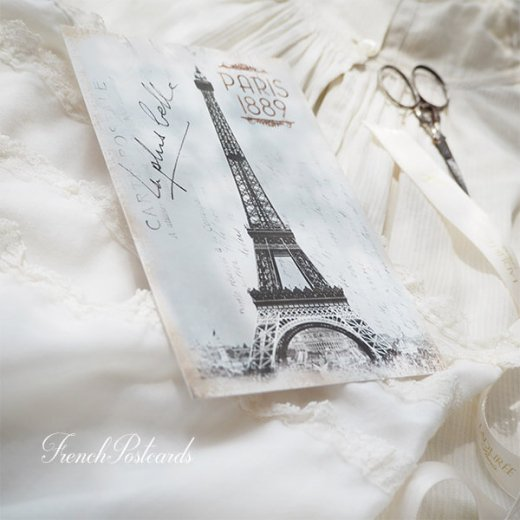 フランス エッフェル塔 モノクロ ポストカード PARIS 1889【画像5】