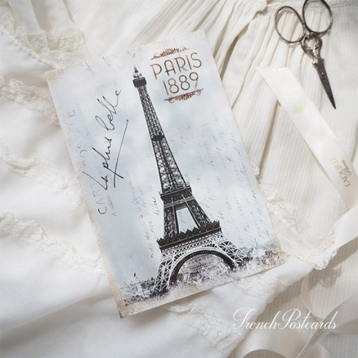 フランス エッフェル塔 モノクロ ポストカード PARIS 1889【画像6】