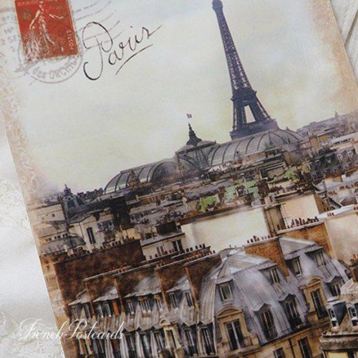 フランス エッフェル塔 セピア ポストカード Expositions universelles de Paris【画像2】
