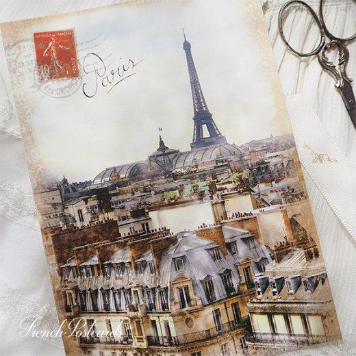 フランス エッフェル塔 セピア ポストカード Expositions universelles de Paris【画像4】