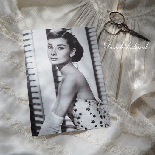 フレンチ ポストカード オードリー・ヘップバーン フラワー (Audrey Hepburn)【画像5】