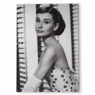 フレンチ ポストカード オードリー・ヘップバーン フラワー (Audrey Hepburn)