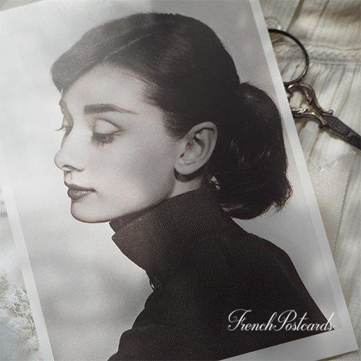 フレンチ ポストカード オードリー・ヘップバーン 横顔 (Audrey Hepburn)【画像2】