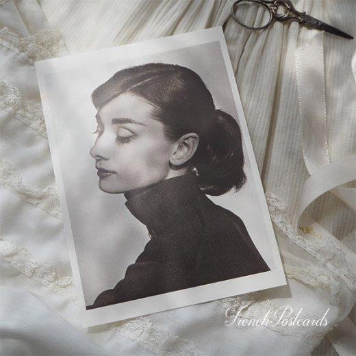フレンチ ポストカード オードリー・ヘップバーン 横顔 (Audrey Hepburn)【画像4】