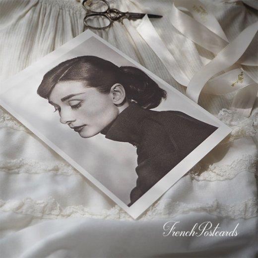 フレンチ ポストカード オードリー・ヘップバーン 横顔 (Audrey Hepburn)【画像5】