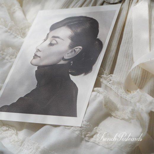 フレンチ ポストカード オードリー・ヘップバーン 横顔 (Audrey Hepburn)【画像6】