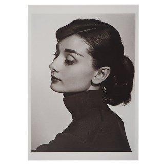 エッフェル塔 ポストカード フレンチ ポストカード オードリー・ヘップバーン 横顔 (Audrey Hepburn)