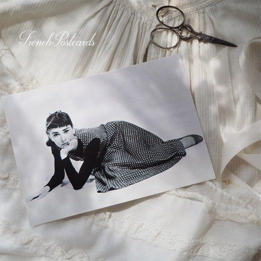 フレンチ ポストカード オードリー・ヘップバーン ドット柄ワンピース (Audrey Hepburn)【画像6】