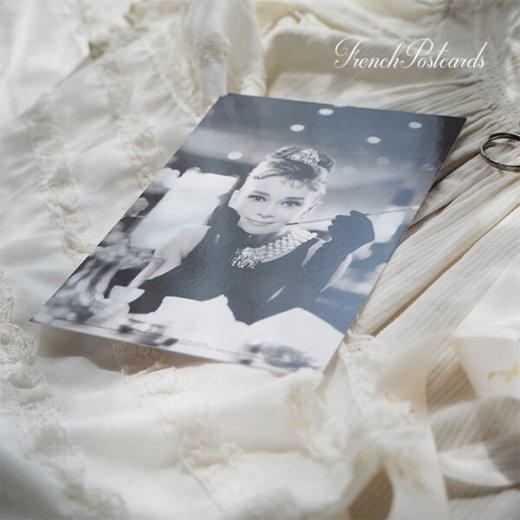 フレンチ ポストカード オードリー・ヘップバーン テファニーA (Audrey Hepburn)【画像4】