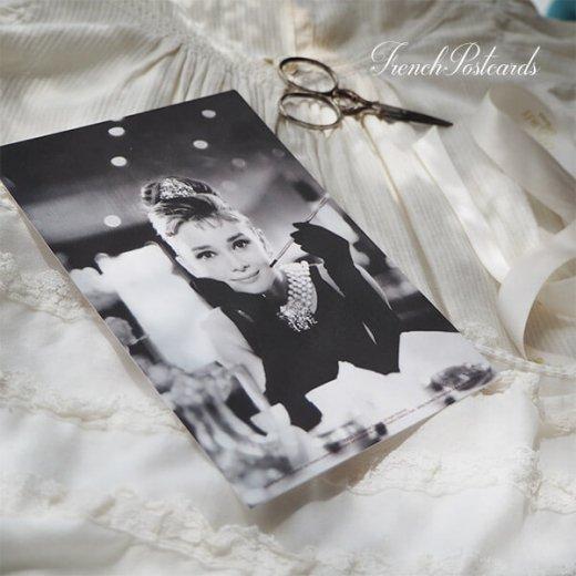 フレンチ ポストカード オードリー・ヘップバーン ティファニーA (Audrey Hepburn)【画像5】