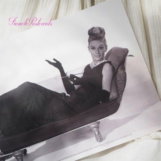 フレンチ ポストカード オードリー・ヘップバーン ティファニーB (Audrey Hepburn)【画像2】