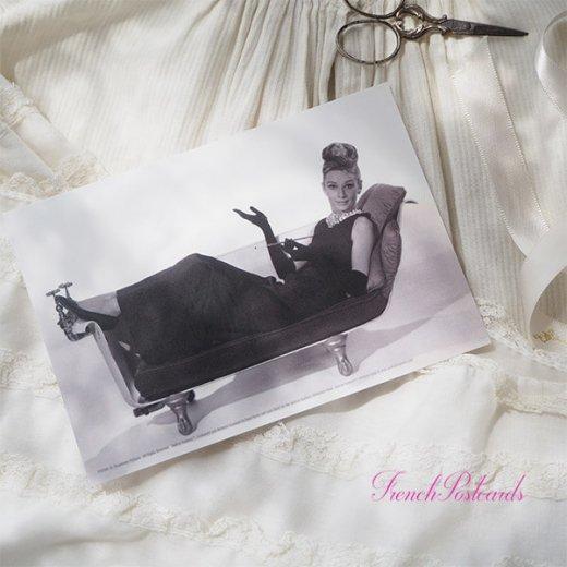 フレンチ ポストカード オードリー・ヘップバーン ティファニーB (Audrey Hepburn)【画像4】